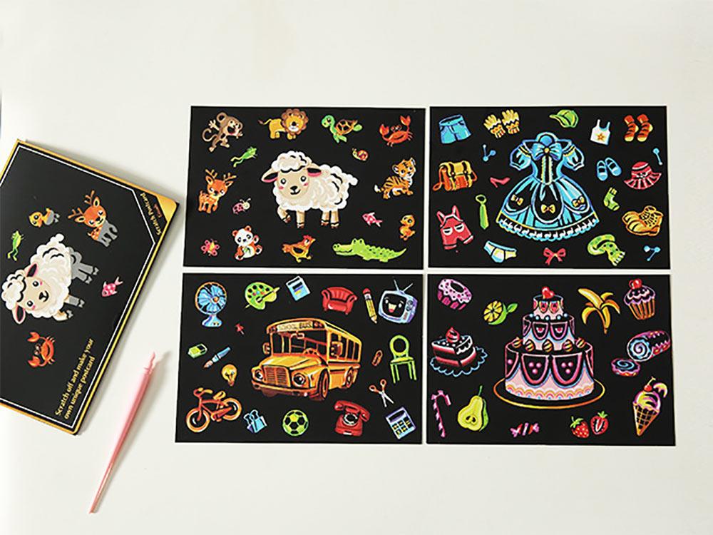 Купить Набор скретч-открыток «С Днем рождения!» (цветные), Корея, 20x14 см, ARTICLE SERIES
