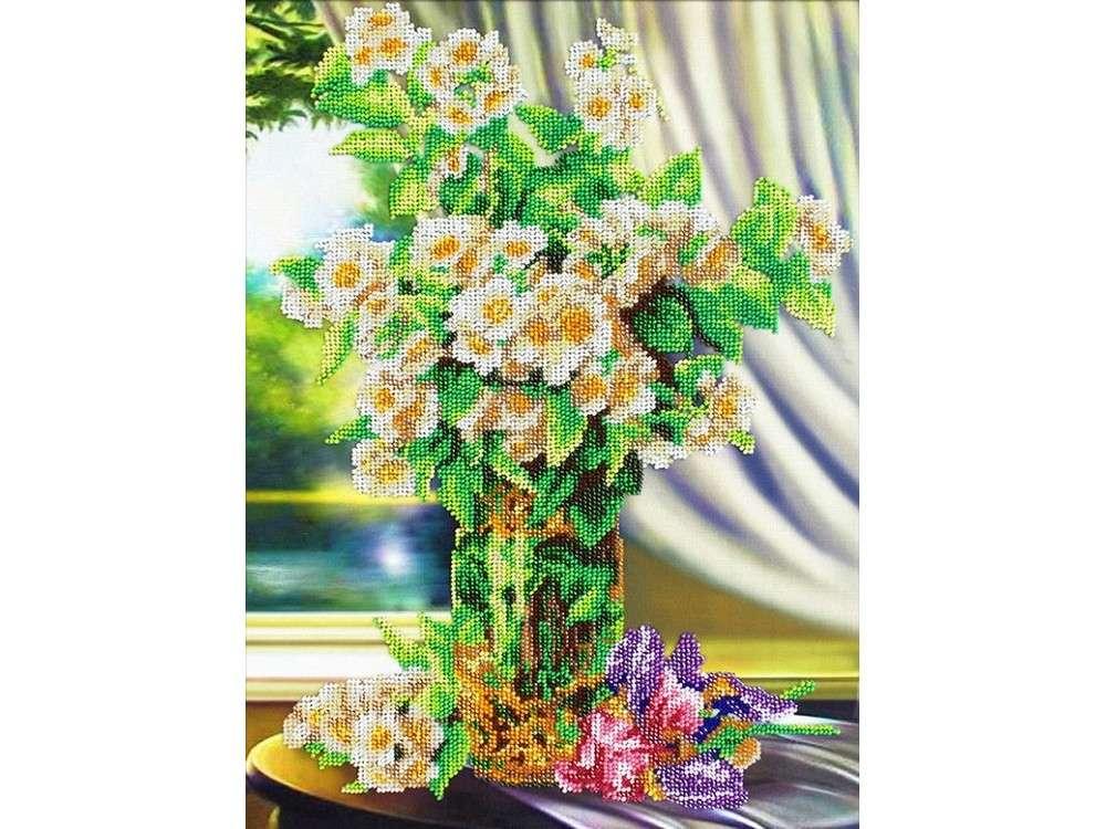 Купить Вышивка бисером, Набор вышивки бисером «Жасмин», Паутинка, 38x28 см, Б-1278