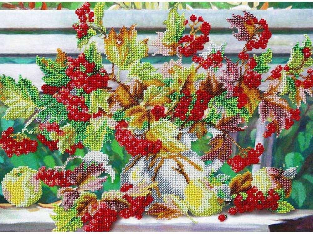 Купить Вышивка бисером, Набор вышивки бисером «Калина», Паутинка, 38x28 см, Б-1279