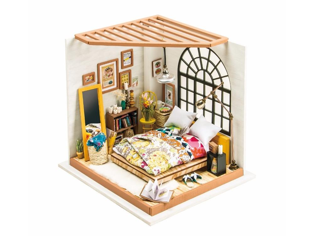 Набор для создания миниатюры (румбокс) «Комната отдыха», Цветной, 20, 3x18, 4x18, 7 см, DG107  - купить со скидкой
