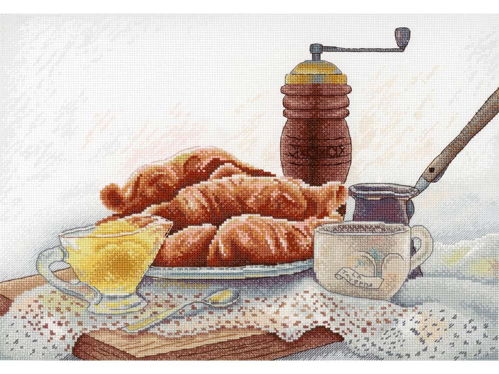Купить Вышивка крестом, Набор для вышивания «Французский завтрак», МП-студия, 21x19 см, НВ-655