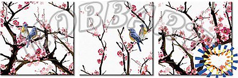 Купить Картина по номерам «Возрождение красоты», Hobbart, Россия, 3 шт. 40x40 см, PH340120031-Lite