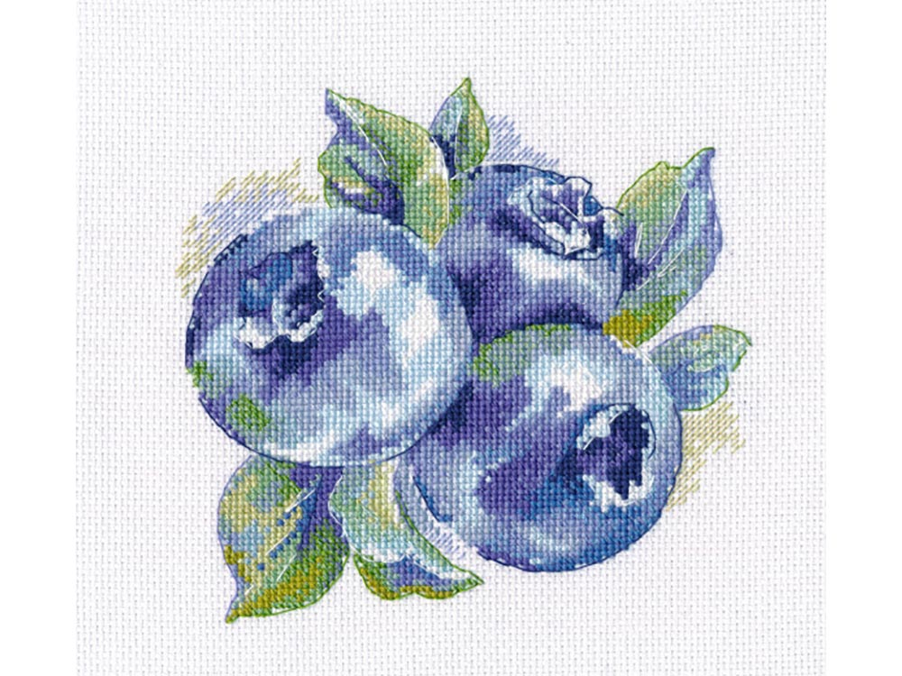 Купить Вышивка крестом, Набор для вышивания «Лесная ягода», Овен, 14x14 см, 1090