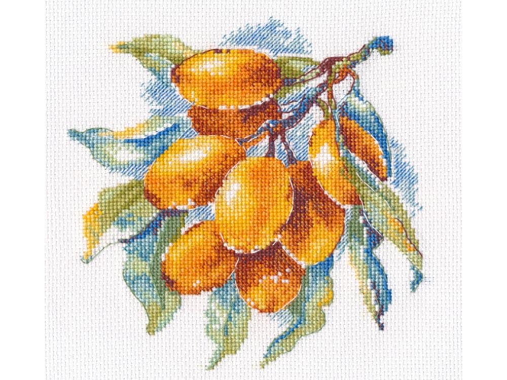 Купить Вышивка крестом, Набор для вышивания «Янтарная ягода», Овен, 15x15 см, 1091