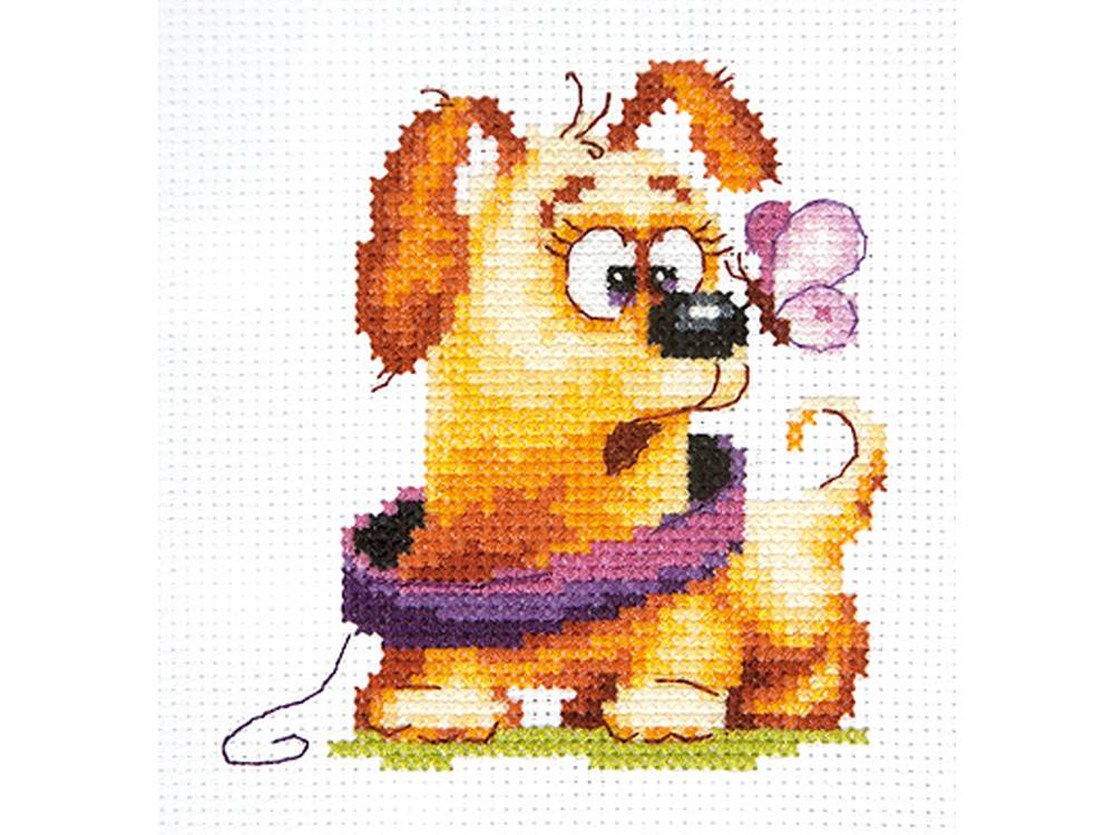 Купить Вышивка крестом, Набор для вышивания «Забавный малыш», Чудесная игла, 9x10 см, 16-24