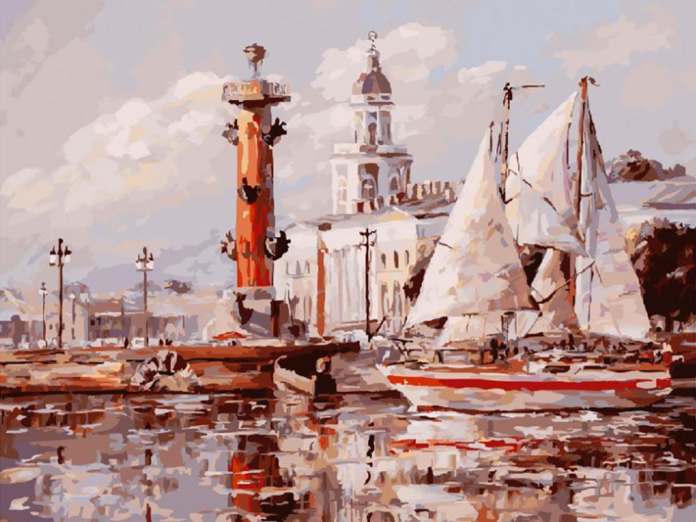Купить Картина по номерам «Санкт-Петербург. Кунсткамера», Белоснежка, 253-AS