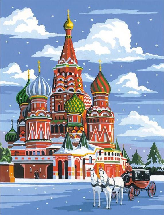 Купить Алмазная вышивка «Зимний собор», Гранни, 38x48 см, Ag 2261