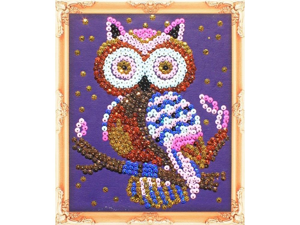 Купить Мозаика из пайеток «Сова», Color KIT, 24x30 см, CM004