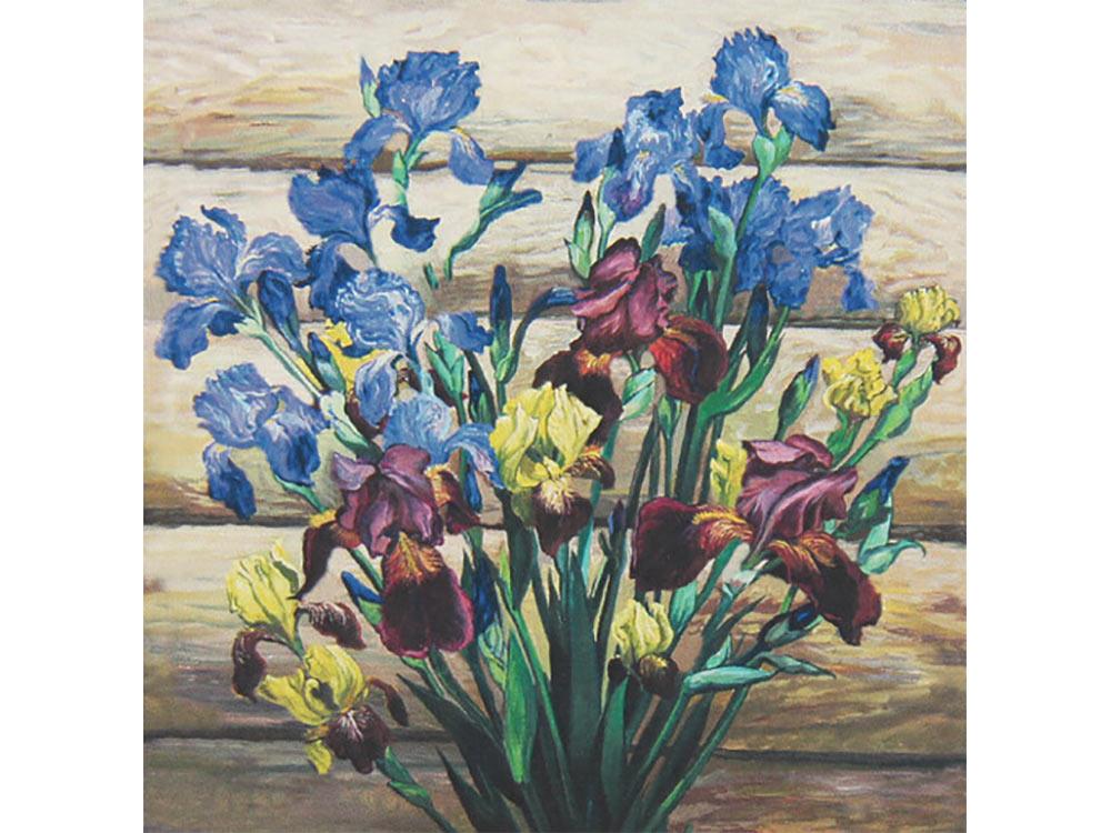 Купить Мозаика из пайеток «Ирисы», Color KIT, 30x30 см, CMD001