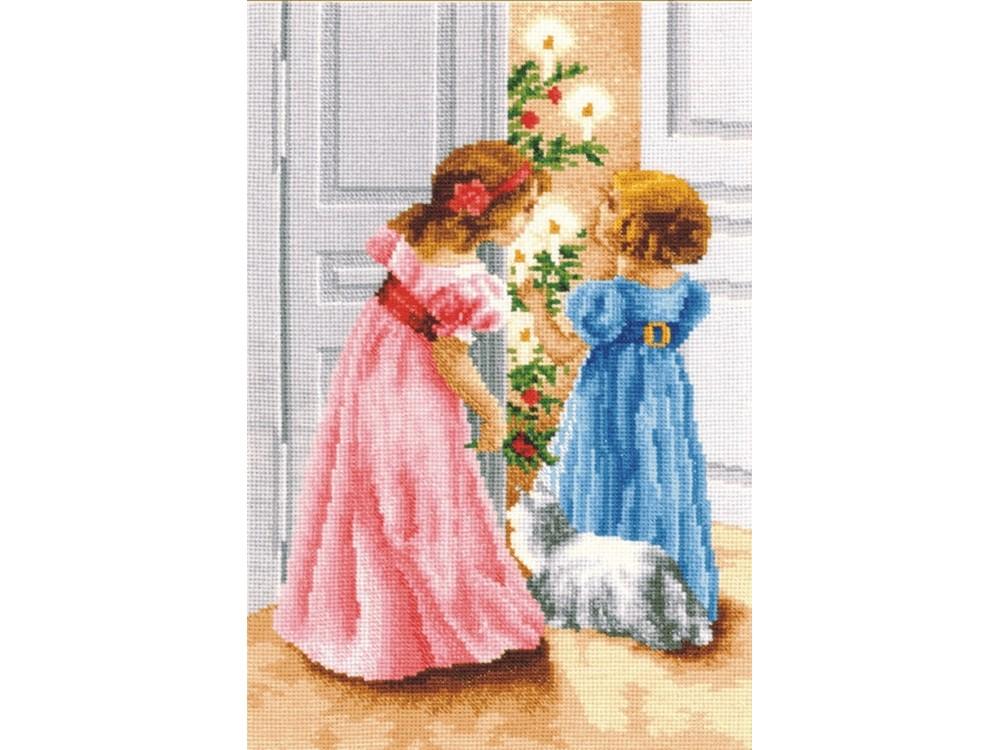 Купить Вышивка крестом, Набор для вышивания «Барышни», Сделай своими руками, 22x34 см, Б-03