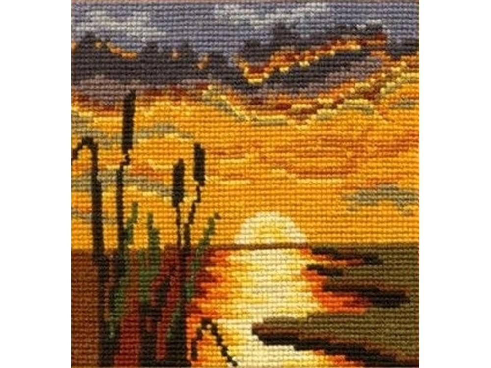 Купить Вышивка крестом, Набор для вышивания «Закат», Сделай своими руками, 17x18 см, З-03