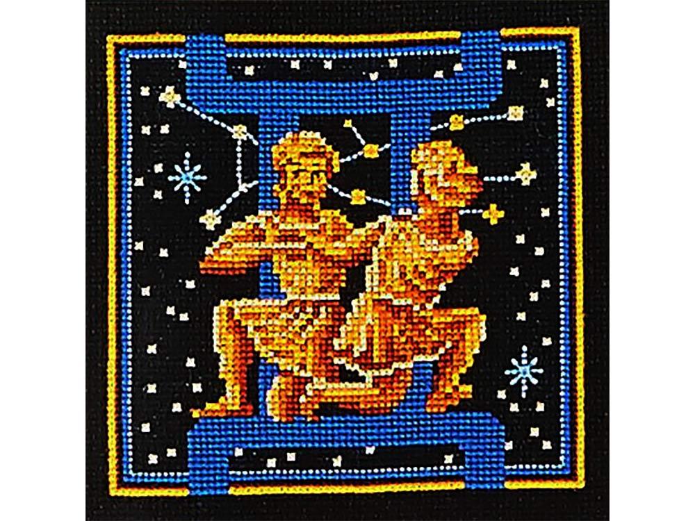 Купить Вышивка крестом, Набор для вышивания «Знаки зодиака. Близнецы», Сделай своими руками, 16x16 см, З-08