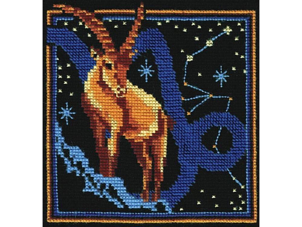 Купить Вышивка крестом, Набор для вышивания «Знаки зодиака. Козерог», Сделай своими руками, 16x16 см, З-12