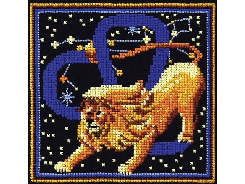 Купить Вышивка крестом, Набор для вышивания «Знаки зодиака. Лев», Сделай своими руками, 16x16 см, З-13