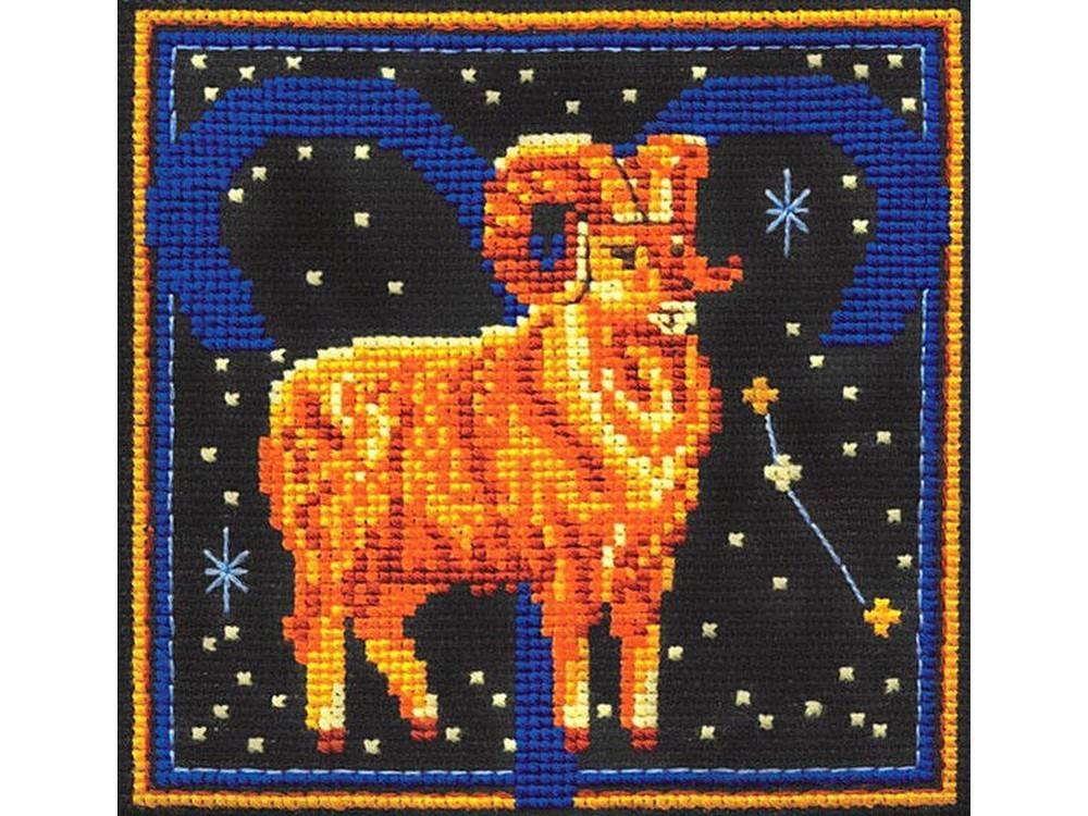 Вышивка крестом, Набор для вышивания «Знаки зодиака. Овен», Сделай своими руками, 16x16 см, З-14  - купить со скидкой