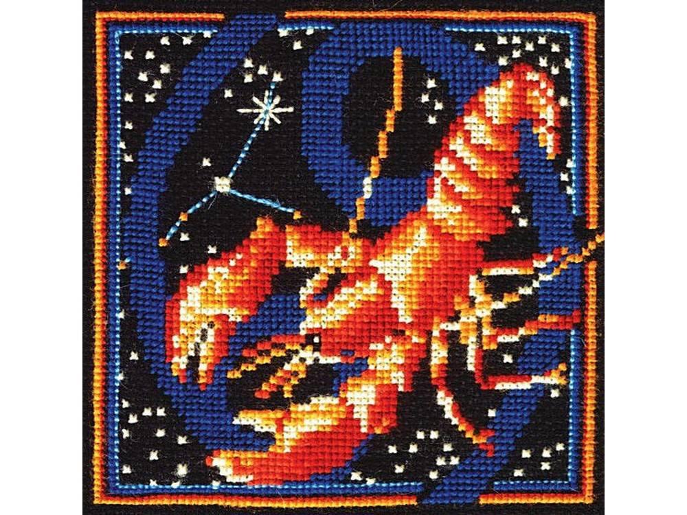 Купить Вышивка крестом, Набор для вышивания «Знаки зодиака. Рак», Сделай своими руками, 16x16 см, З-15