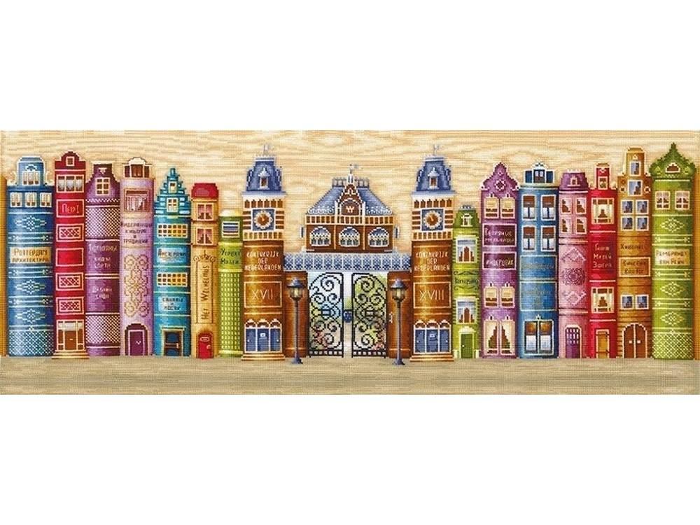 Купить Вышивка крестом, Набор для вышивания «Королевство книг», Сделай своими руками, 77x28 см, К-30