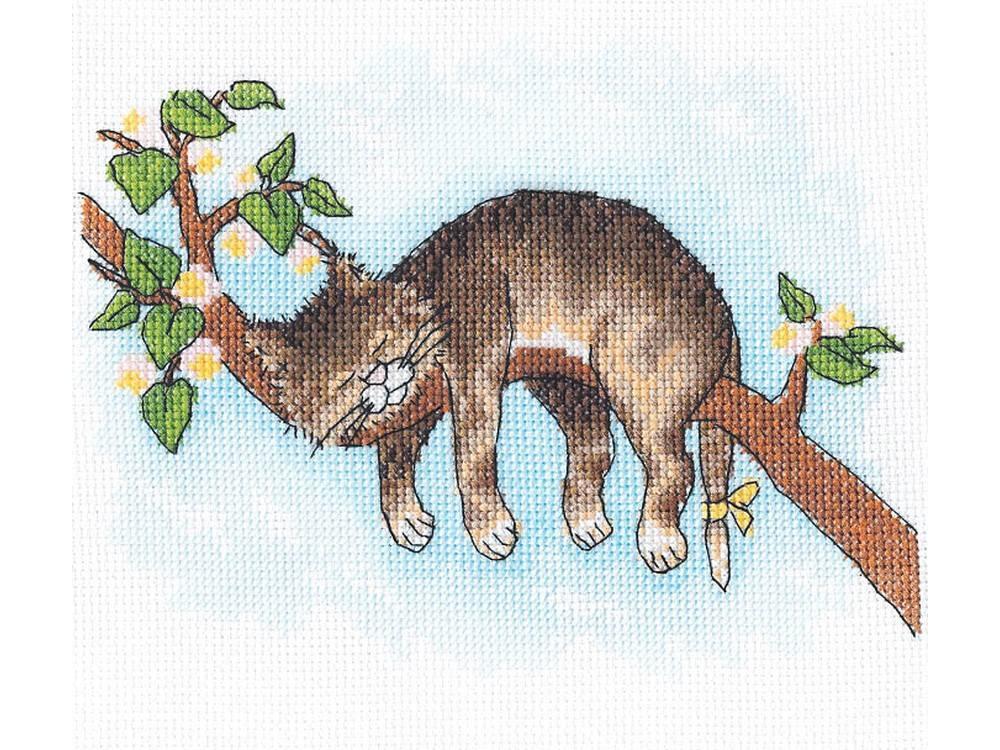 Купить Вышивка крестом, Набор для вышивания «Не будите!», Сделай своими руками, 19x15 см, Н-15