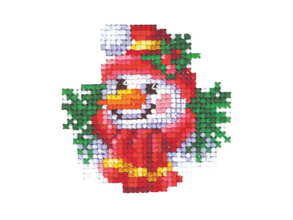 Купить Вышивка крестом, Набор для вышивания «Новогодние игрушки. Снеговик», Сделай своими руками, 6x6 см, Н-19