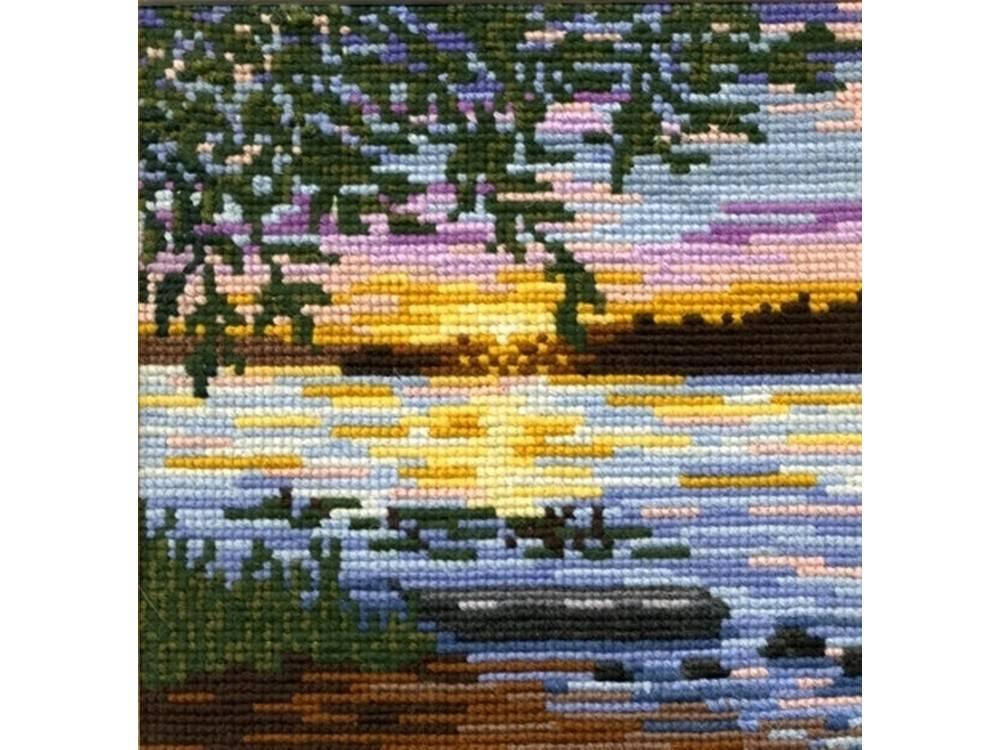 Купить Вышивка крестом, Набор для вышивания «Рассвет», Сделай своими руками, 18x17 см, Р-03