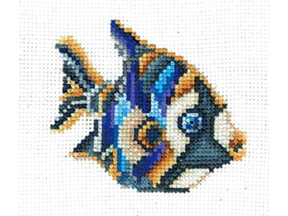 Купить Вышивка крестом, Набор для вышивания «Статуэтки. Рыбка», Сделай своими руками, 11x11 см, С-34