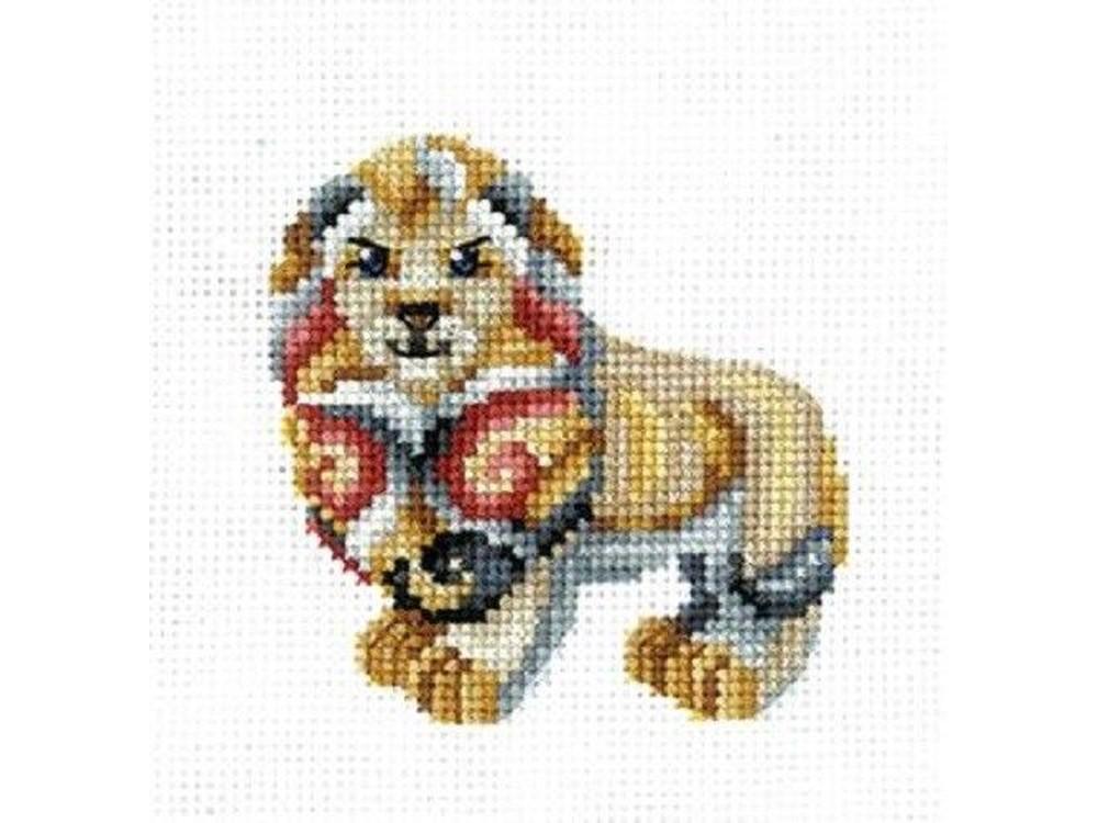 Купить Вышивка крестом, Набор для вышивания «Статуэтки. Лев», Сделай своими руками, 12x12 см, С-36