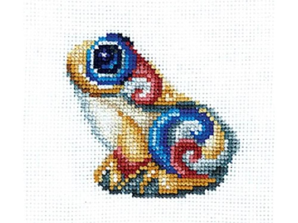 Купить Вышивка крестом, Набор для вышивания «Статуэтки. Лягушка», Сделай своими руками, 12x12 см, С-38