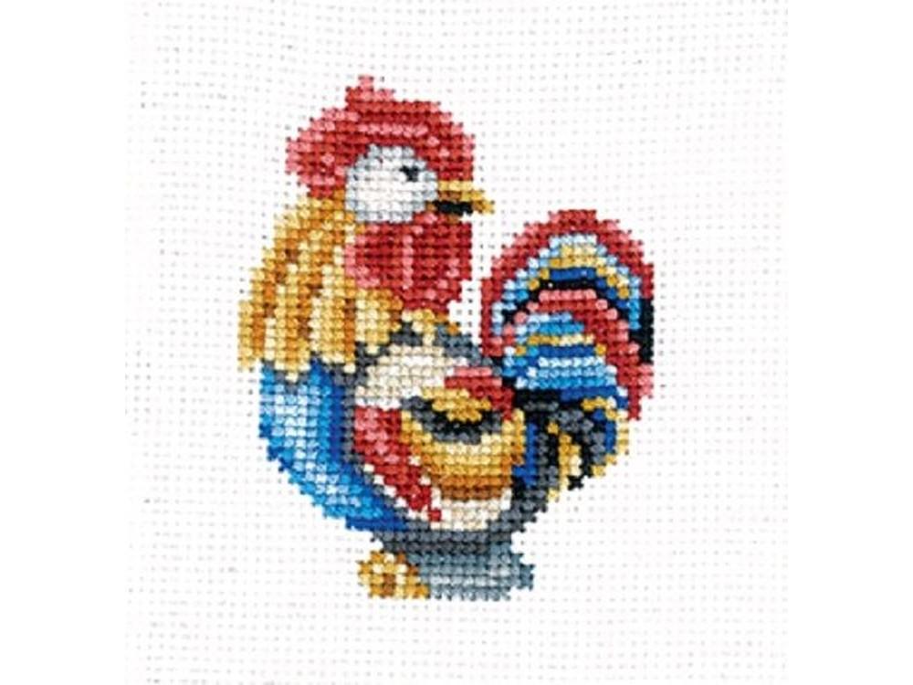 Купить Вышивка крестом, Набор для вышивания «Статуэтки. Петух», Сделай своими руками, 12x12 см, С-39