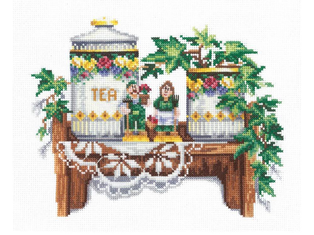 Купить Вышивка крестом, Набор для вышивания «Полуденный чай», Сделай своими руками, 22x18 см, П-38