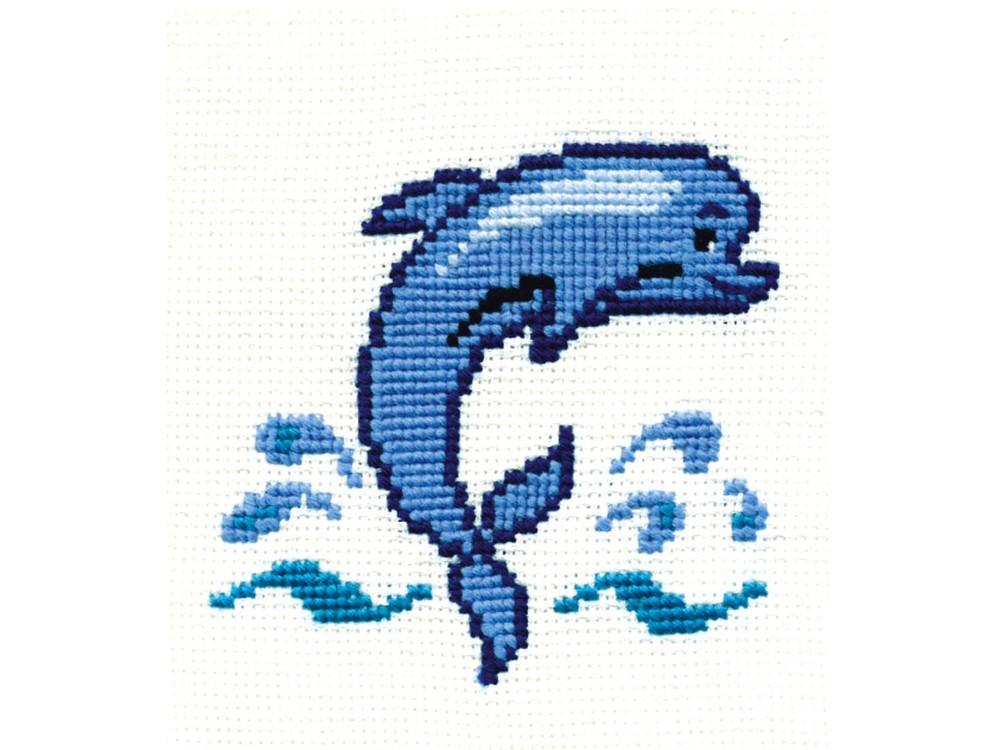 Купить Вышивка крестом, Набор для вышивания «Дельфин», Сделай своими руками, 15x15 см, Д-04