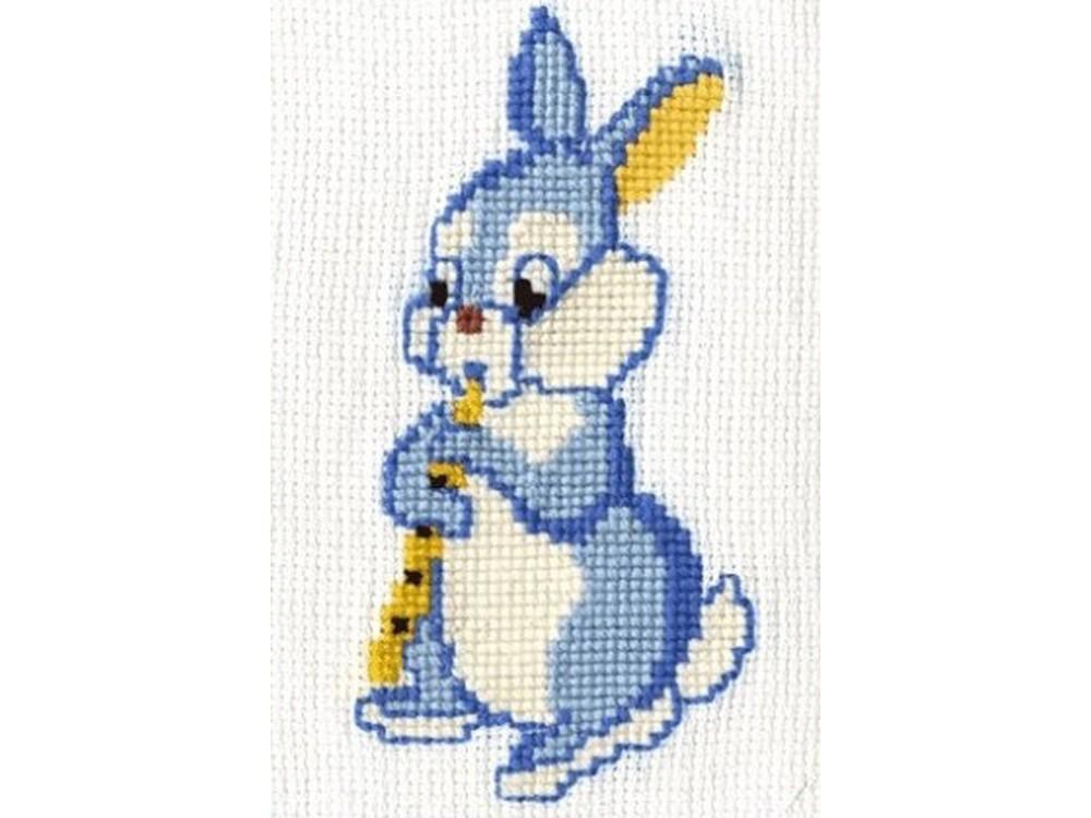 Купить Вышивка крестом, Набор для вышивания «Зайчишка», Сделай своими руками, 10x18 см, З-02