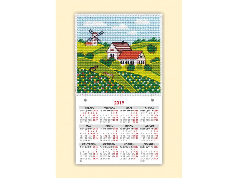 Купить Вышивка крестом, Набор для вышивания «Магнит. Времена года. Лето», Овен, общий: 9, 5x16, 5 см, вышивка: 9, 5x9, 1113