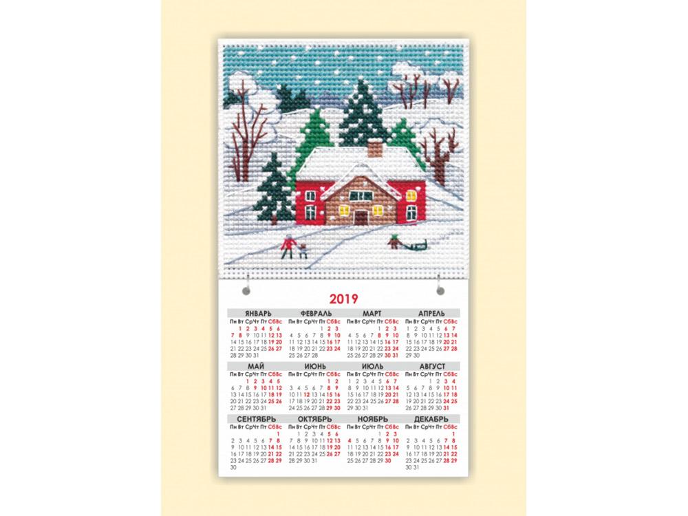 Купить Вышивка крестом, Набор для вышивания «Магнит. Времена года. Зима», Овен, общий: 9, 5x16, 5 см, вышивка: 9, 5x9, 1115