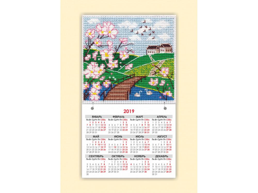 Купить Вышивка крестом, Набор для вышивания «Магнит. Времена года. Весна», Овен, общий: 9, 5x16, 5 см, вышивка: 9, 5x9, 1116