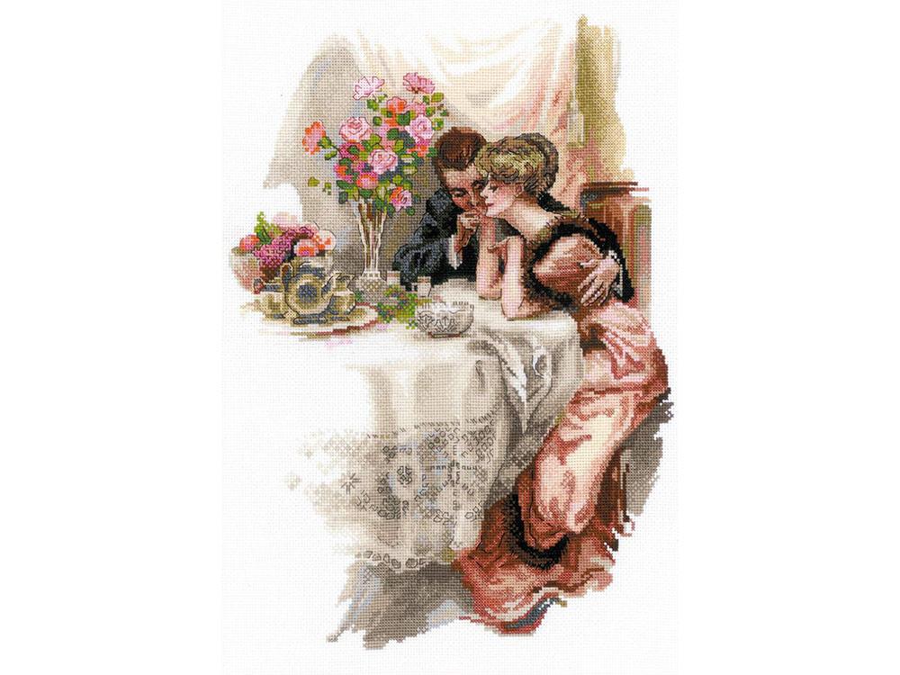 Купить Вышивка крестом, Набор для вышивания «Первый вечер в собственном доме», Риолис (Сотвори Сама), 30x42 см, 1774