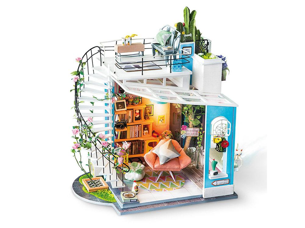 Купить Набор для создания миниатюры (румбокс) «Уютный лофт», Цветной, 26, 8x29x21, 6 см, DG12