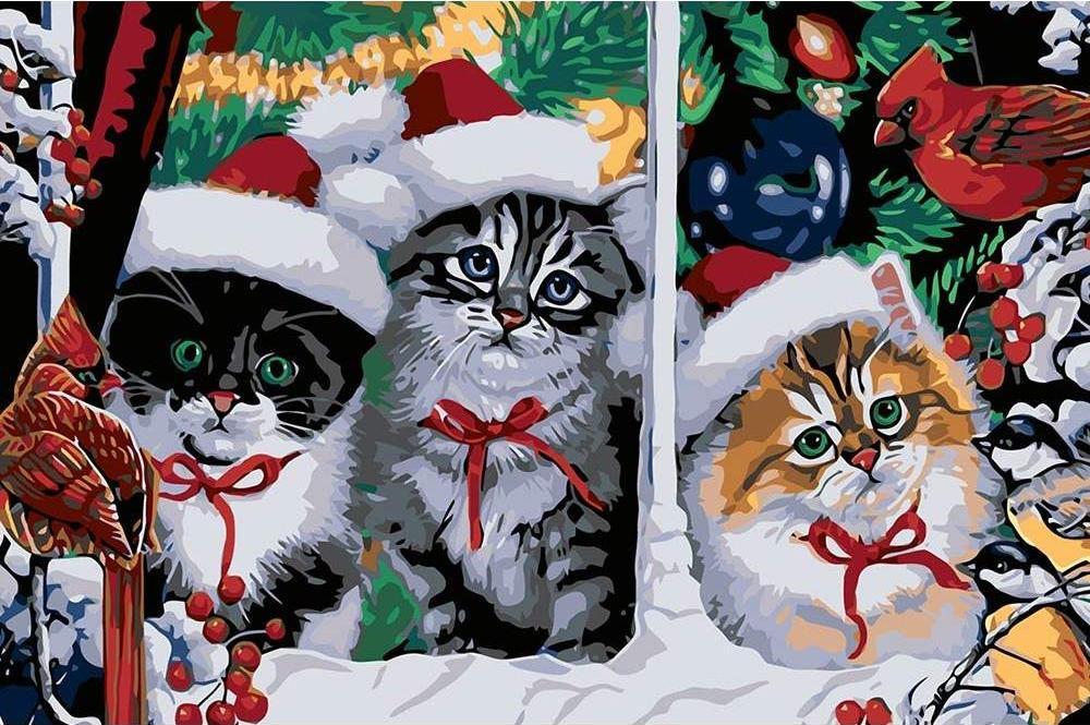 Елене днем, открытки с котятами на новый год