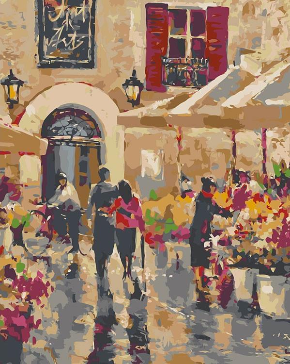 Купить Картина по номерам «Цветочная улица», Живопись по Номерам, Китай, BH10