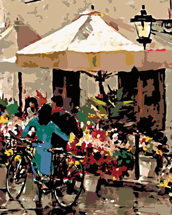 Купить Картина по номерам «Цветочная палатка», Живопись по Номерам, Китай, BH16