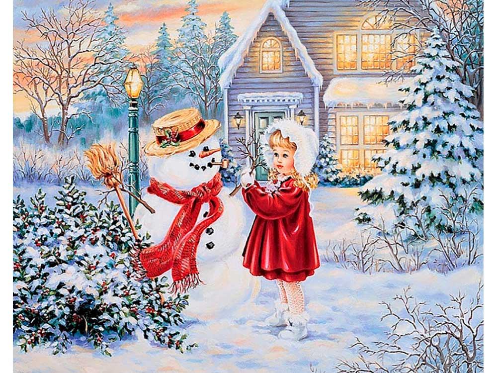 Днем, открытки с рождеством с девушкой