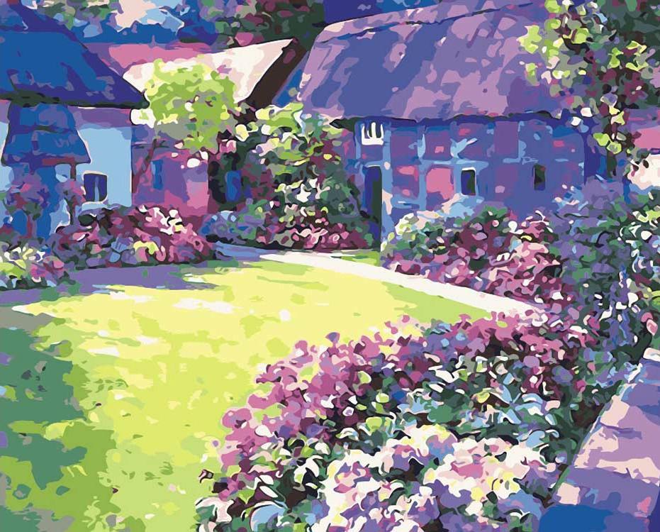 Купить Картина по номерам «Солнечный сад», Живопись по Номерам, Китай, HB01