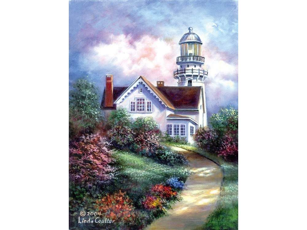 Купить Картина по контурам гризайль «Мыс Элизабет», Royal&Langnickel, 28x35 см, POM-SET 01