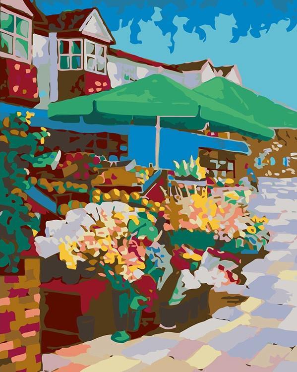 Купить Картина по номерам «Цветочная лавочка», Живопись по Номерам, Китай, RA059