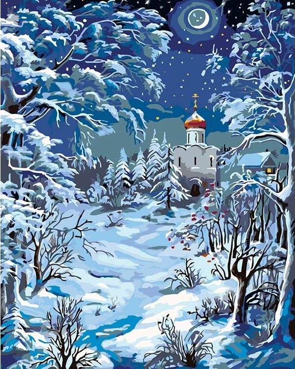 Рисованные рождественские картинки