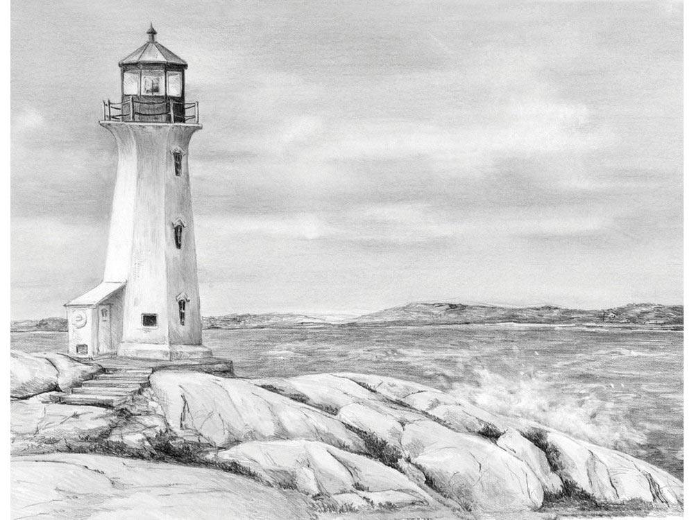 картинки моря простым карандашом спеца завышенном
