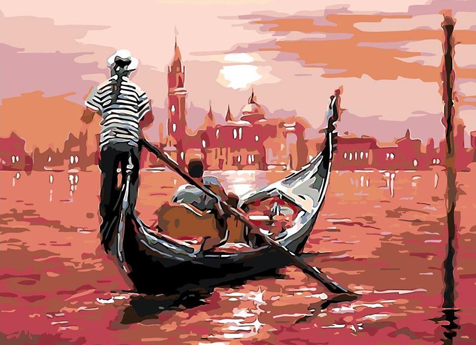 Купить Картина по номерам «Гондола на закате», Живопись по Номерам, Китай, TPF3