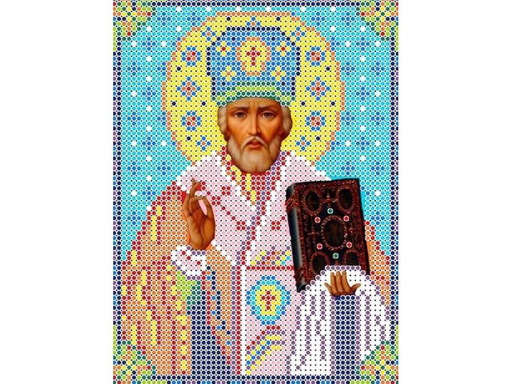 Купить Вышивка бисером, Набор вышивки бисером «Святой Николай Угодник», Каролинка, 12, 5x16 см, КБИН(Ч) 5025