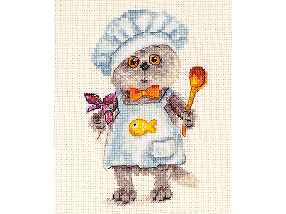 Купить Вышивка крестом, Набор для вышивания «Басик шеф-повар», Алиса, 10x14 см, 0-182