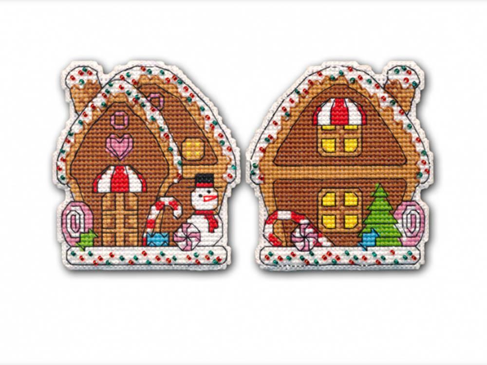 Купить Вышивка крестом, Набор для вышивания «Пряничный домик», Овен, 7, 5x8, 3 см (2 шт.), 1132