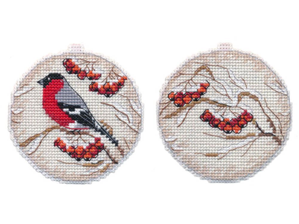 Купить Вышивка крестом, Набор для вышивания «Рябинка. Елочная игрушка», Овен, 8, 5x8 см (2 шт.), 1140